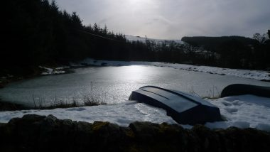 Allenheads recce ahead of Sparkes & Thompson BEYOND Residency - the cosmic pond on ice!