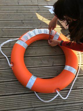 lifebuoy lettering