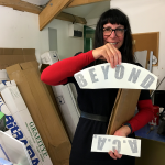 Vinyl lettering for Terraqueous II lifebuoy